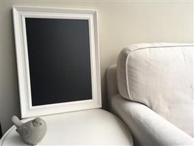 'All White' Large Blackboard w. Traditional Frame