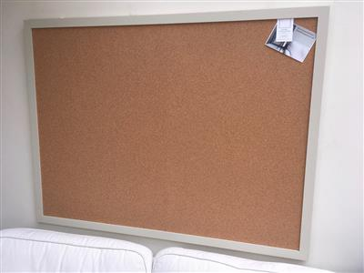 'Bone' Super Size Cork Pin Board w. Modern Frame