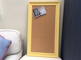 'Citron' Large Cork Pin Board w. Traditional Frame
