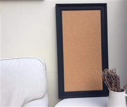 'Railings' Large Cork Pin Board w. Traditional Frame