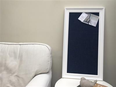Large Pin Board. A cork notice board with white frame painted in ...