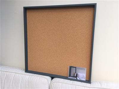 'Down Pipe' Extra Large Cork Pin Board w. Box Frame