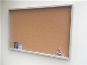 'Purbeck Stone' Giant Cork Pin Board w. Box Frame