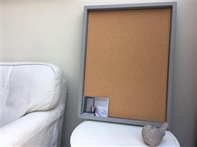 'Worsted' Large Cork Pin Board w. Box Frame