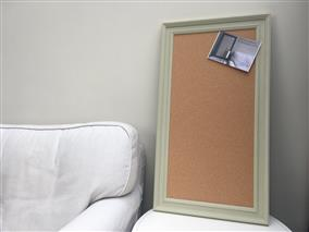 'Ball Green' Large Cork Pin Board w. Traditional Frame
