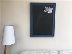 'Stiffkey Blue' Extra Large Magnetic Blackboard w. Traditional Frame
