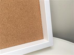 Ready To Ship - Large Cork Pin Board w. White Box Frame