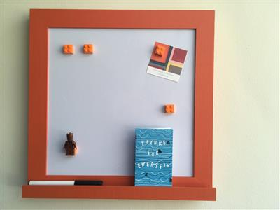 'Charlotte's Locks' Small Magnetic Whiteboard w. Shelf
