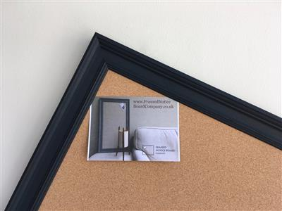 'Off Black' Giant Cork Pin Board w. Traditional Frame