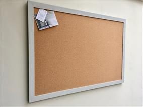 'Pavilion Gray' Giant Cork Pin Board w. Modern Frame