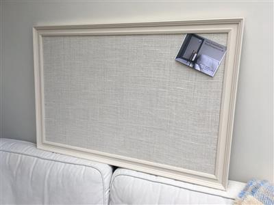 Giant Pin Board - A fabric notice board with white frame painted in ...