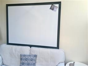 'Down Pipe' Super Size Magnetic Whiteboard w. Traditional Frame