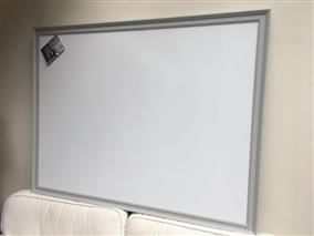'Lamp Room Gray' Super Size Magnetic Whiteboard w. Traditional Frame