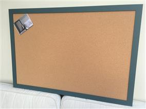 'Inchyra Blue' Giant Cork Pin Board w. Modern Frame