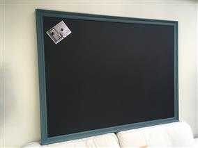 'Inchyra Blue' Super Size Magnetic Blackboard w. Traditional Frame