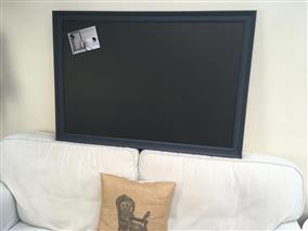 'Railings' Giant Magnetic Blackboard w. Traditional Frame