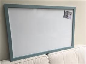 'Oval Room Blue' Giant Magnetic Whiteboard w. Square Frame