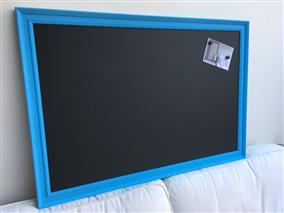 'St Giles Blue' Giant Magnetic Blackboard w. Traditional Frame