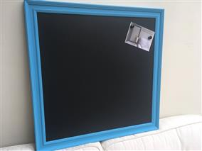 'St Giles Blue' Extra Large Magnetic Blackboard w. Traditional Frame