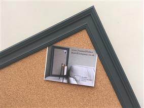 'Down Pipe' Super Size Cork Pin Board w. Traditional Frame