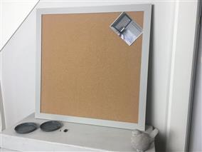 'Purbeck Stone' Extra Large Cork Pin Board w. Modern Frame