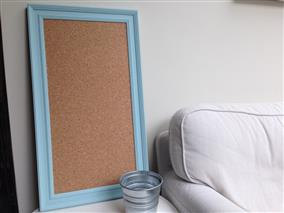 'Blue Ground' Large Cork Pin Board w. Traditional Frame