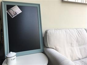 'Oval Room Blue' Extra Large Blackboard w. Traditional Frame