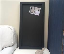 Ready To Ship - Large Magnetic Blackboard w. Black Frame
