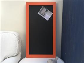 'Charlotte's Locks' Large Magnetic Blackboard with Square Frame