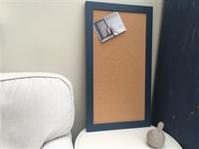 'Stiffkey Blue' Large Cork Pin Board w. Modern Frame