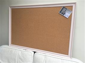 'Calamine' Super Size Cork Pin Board w. Traditional Frame