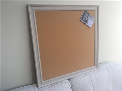 'Elephant's Breath' Extra Large Cork Pin Board w. Traditional Frame