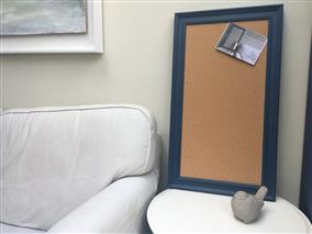 'Stiffkey Blue' Large Cork Pin Board w. Traditional Frame