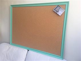 'Arsenic' Super Size Cork Pin Board w. Traditional Frame