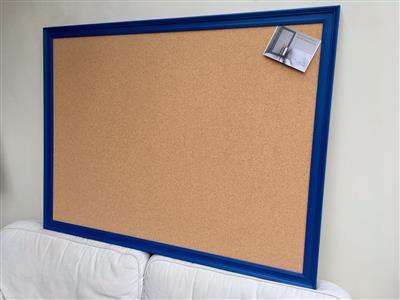 'Mazarine' Super Size Cork Pin Board w. Traditional Frame