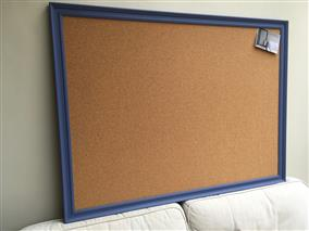 'Pale Lupin' Super Size Cork Pin Board w. Traditional Frame