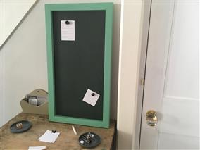Ready To Ship - Large Magnetic Chalkboard w. Green Frame