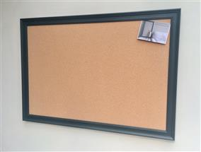 'Studio Green' Giant Cork Pin Board w. Traditional Frame