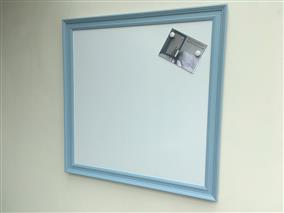 'Lulworth Blue' Extra Large Magnetic Whiteboard w. Traditional Frame