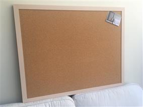 'Setting Plaster' Super Size Cork Pin Board w. Modern Frame