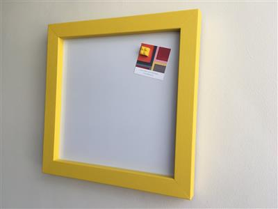 Ready To Ship - Small Magnetic Whiteboard w. Yellow Frame