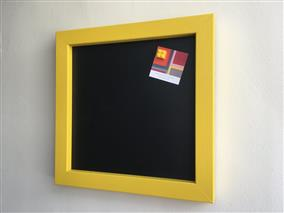 Ready To Ship - Small Magnetic Blackboard w. Yellow Frame