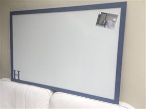 'Pitch Blue' Super Size Magnetic Whiteboard w. Modern Frame