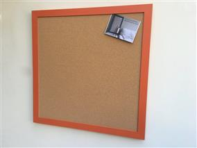 'Charlotte's Locks' Extra Large Cork Pin Board w. Modern Frame
