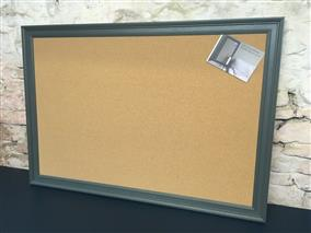 'Lulworth Blue' Giant Cork Pin Board w. Modern Frame