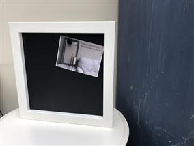 25% OFF! - Ready To Ship - Small Magnetic Blackboard w. White Frame