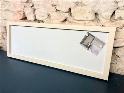 Ready To Ship - Long Magnetic Whiteboard w. Cream Frame