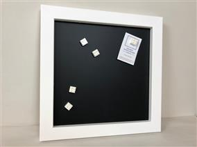 'All White' Small Magnetic Blackboard w. Square Frame