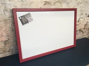 'Rectory Red' Giant Magnetic Whiteboard w. Square Frame