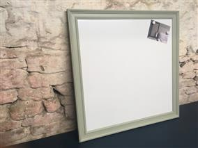 'Blue Gray' Extra Large Magnetic Whiteboard w. Traditional Frame